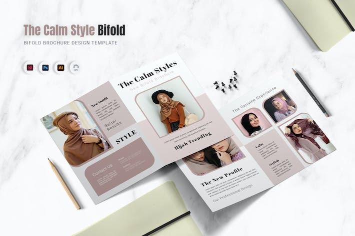 The Calm Style Bifold Brochure