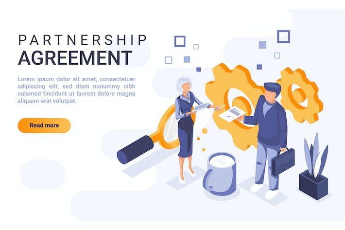 Thumbnail for Концепция плоской изометрической головки партнерства