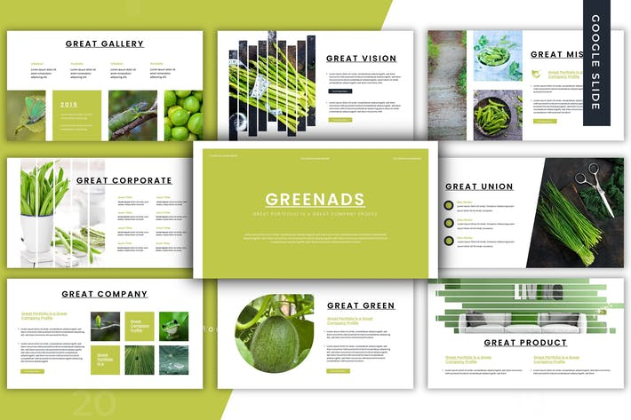 Thumbnail for Greenads - Google Slides Template