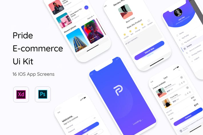 Thumbnail for Pride E-Commerce App Mobile UI Kit