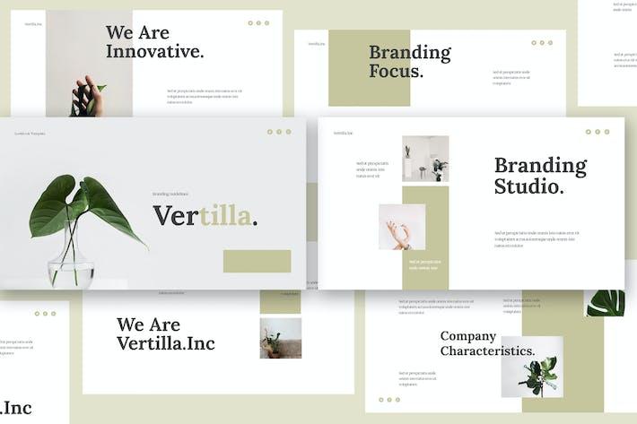 Thumbnail for Vertilla - Brand Guideline Keynote Template