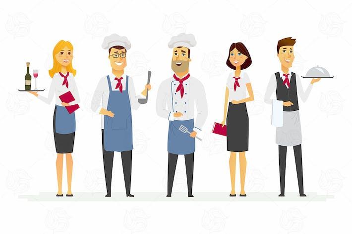 Thumbnail for Restaurant staff - modern vector illustration