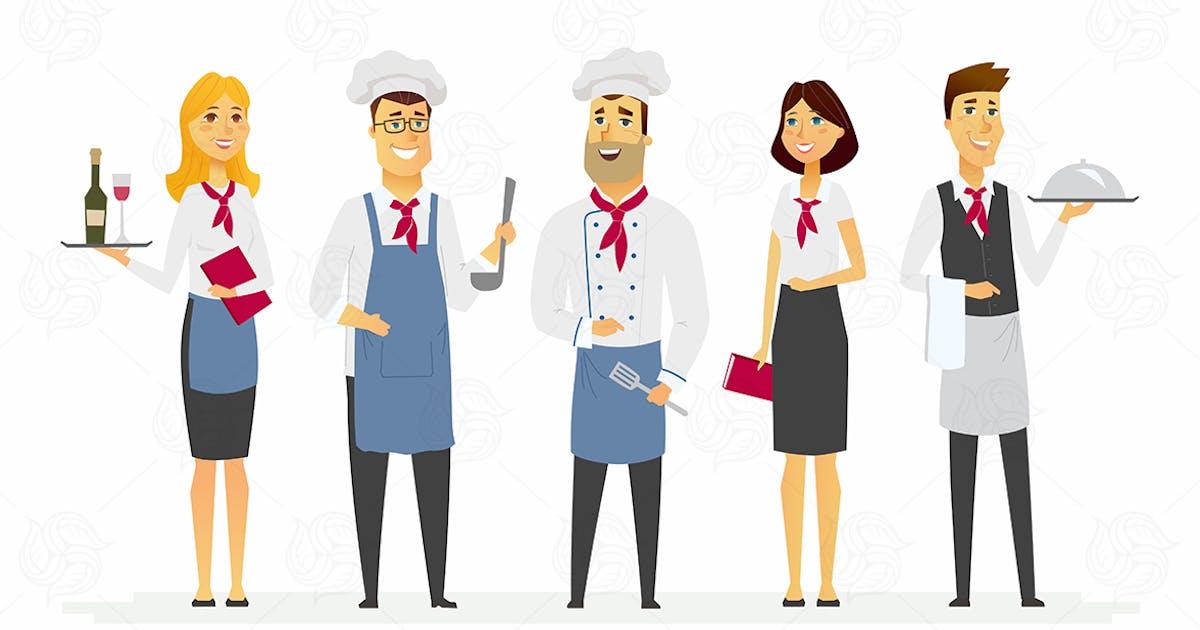 Download Restaurant staff - modern vector illustration by BoykoPictures