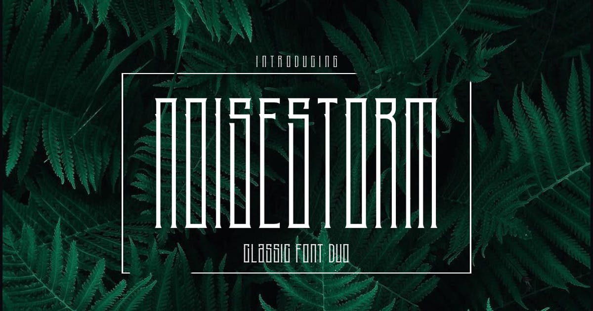 NoiseStorm Font Duo by the-sastra