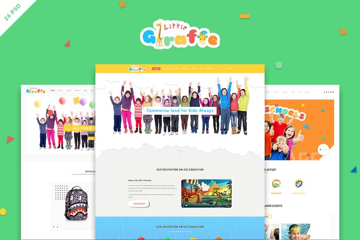 Thumbnail for Giraffe - Kid Education Learning PSD Template