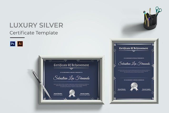 Luxus-Silber-Zertifikat