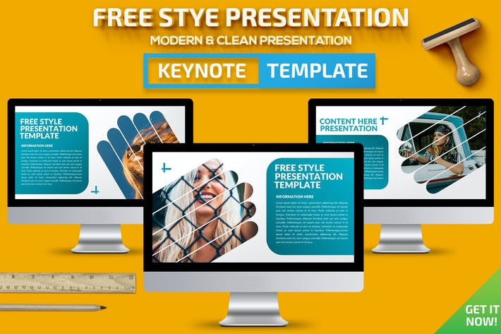 Thumbnail for Free Style Keynote Presentation Template