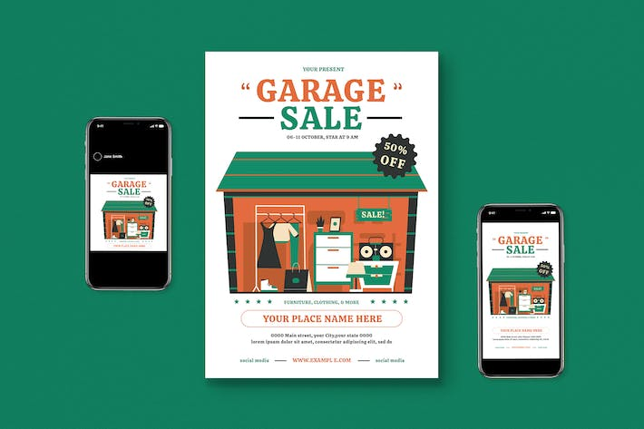 Garage Sale Flyer Set