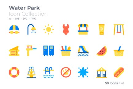 Icono de color del parque acuático