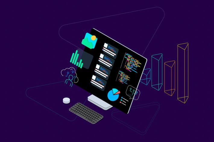 Thumbnail for Blockchain Platform Isometric Illustration 16