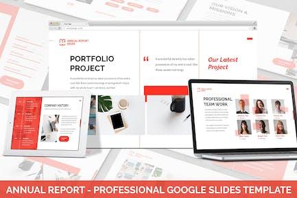 AnnualReport - Professional Google Slides Template