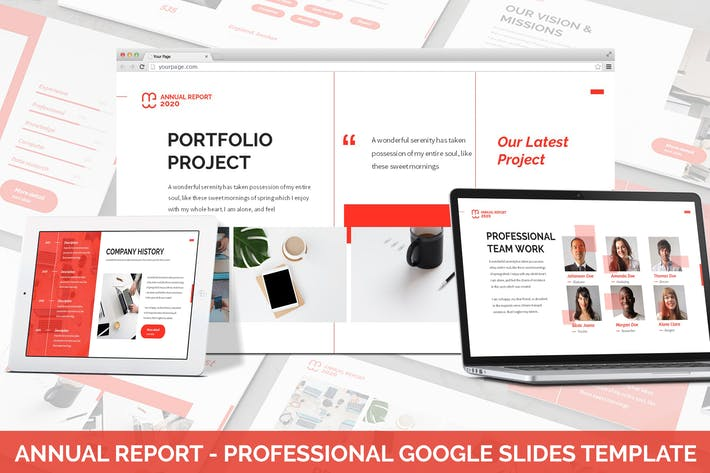 Thumbnail for AnnualReport - Professional Google Slides Template