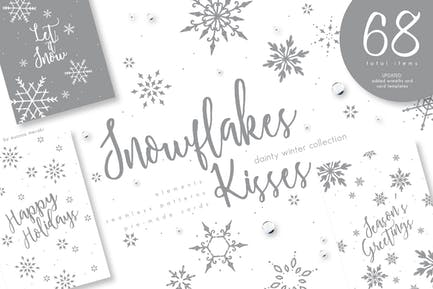 UPDATED+ Snowflakes Winter Kisses