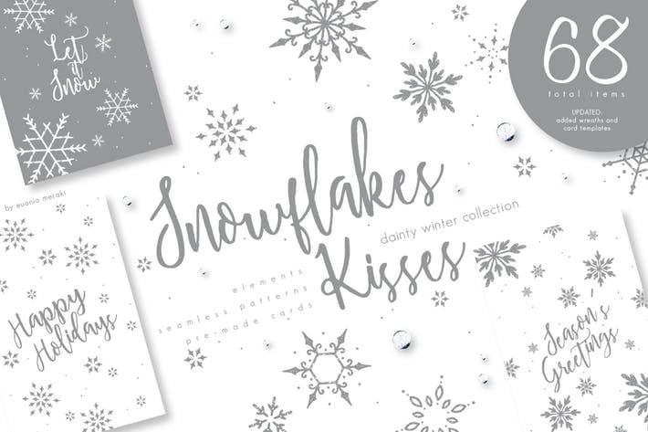 Thumbnail for UPDATED+ Snowflakes Winter Kisses