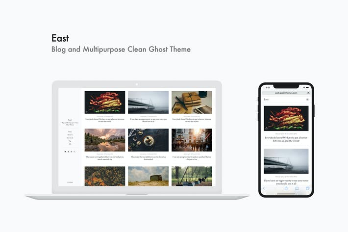 Thumbnail for East - Blog and Multipurpose Clean Ghost Theme