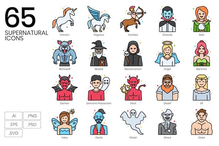 65 Сверхъестественные Иконки и иконы существ