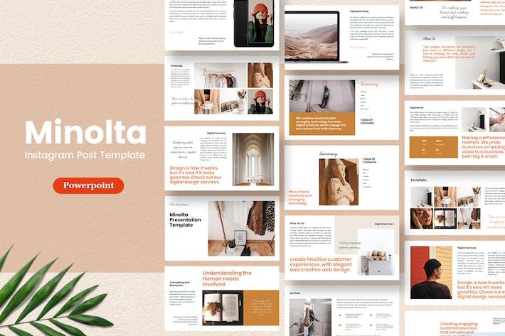 Thumbnail for Minolta - Шаблон презентации Powerpoint