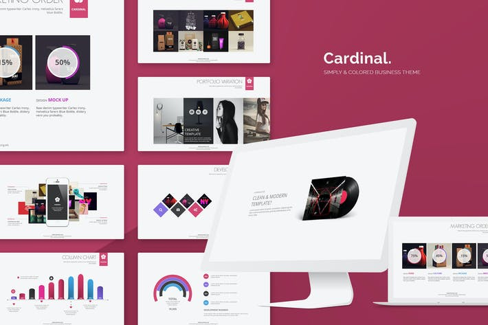 Thumbnail for Cardinal Simply Powerpoint Template