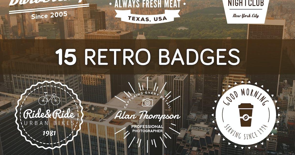 Download Retro Badges by brandifystudio