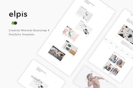 Elpis - Kreative minimale Portfolio Vorlage