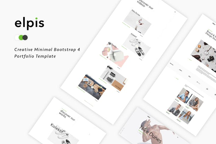 Thumbnail for Elpis - Creative Minimal Portfolio Template
