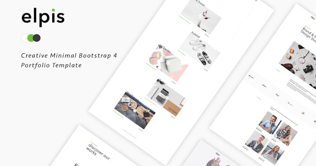 Elpis - Creative Minimal Portfolio Template by IG_design