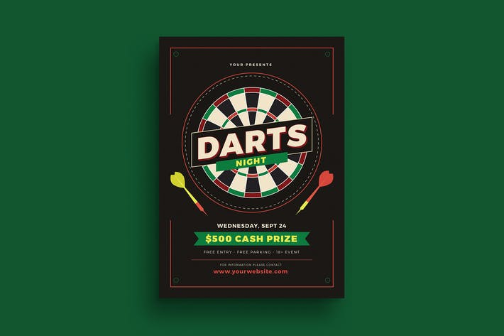 Thumbnail for Darts Night Event Flyer