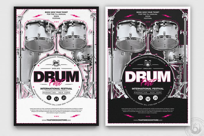 Cover Image For Drum Fest Flyer Template