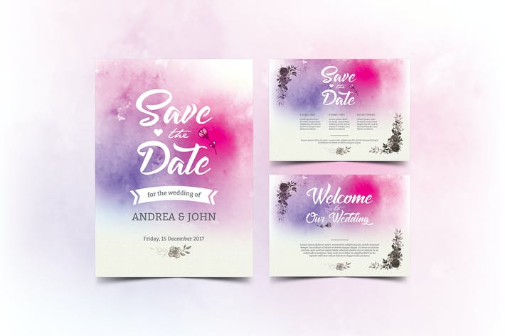 Thumbnail for Watercolor Wedding Invitation