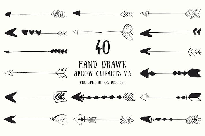 Thumbnail for 30+ Hand Drawn Cliparts Ver. 5
