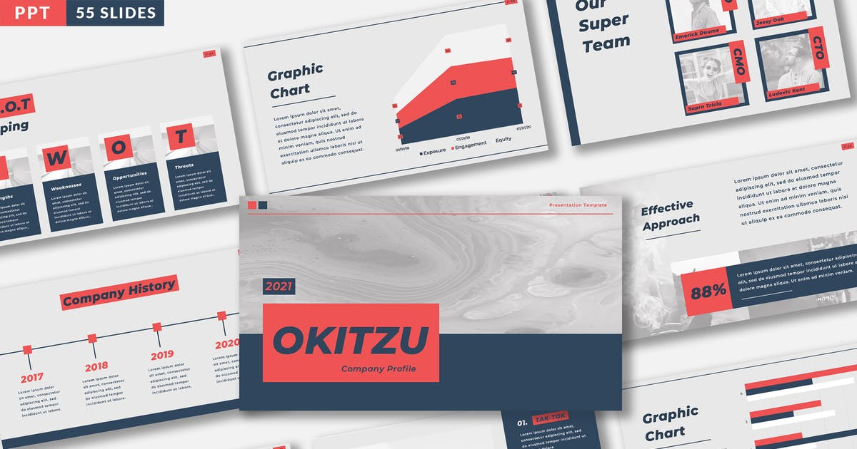 Download OKITZU - Company Profile Template by celciusdesigns