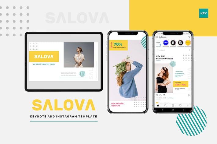 Salova - Keynote & Instagram Template