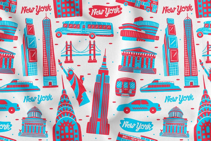 Thumbnail for New York Seamless Pattern