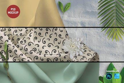 Silk Fabric Mockup