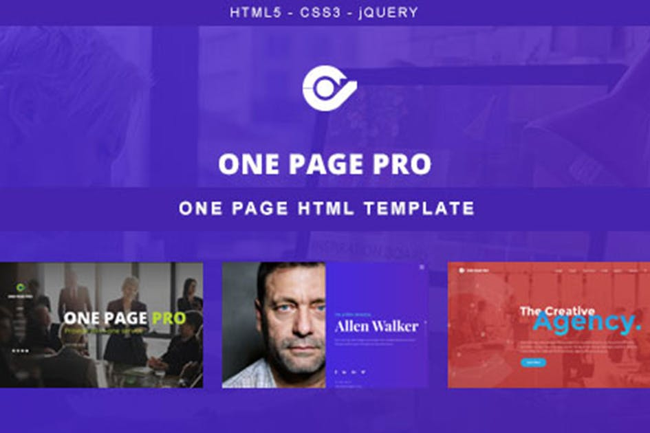 Download One Page Pro - Multi Purpose OnePage HTML Template by max-themes
