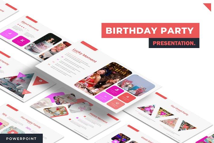 День рождения - Powerpoint Шаблон