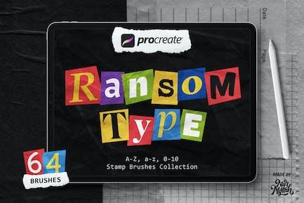 Procreate Ransom Type Brushes