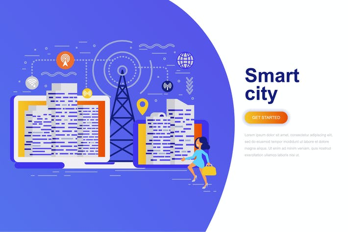 Thumbnail for Smart City Modern Flat Concept