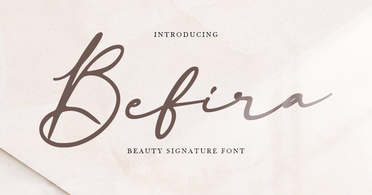 Download Befira - Feminine and Beauty Script font by HamzStudio