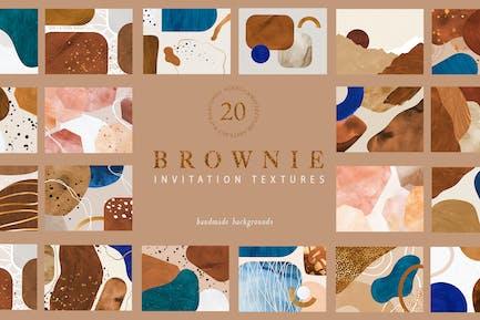 Texturas de invitación Brownie