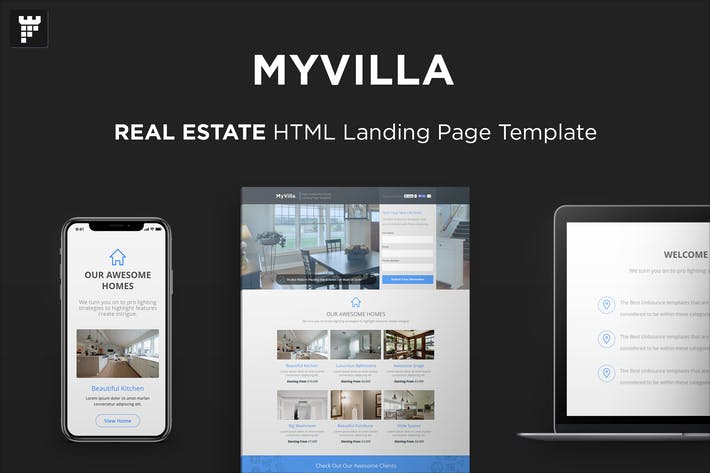 Thumbnail for MyVilla - Real Estate HTML Landing Page