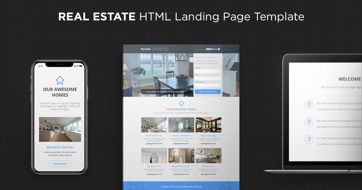 Download MyVilla - Real Estate HTML Landing Page by PixFort