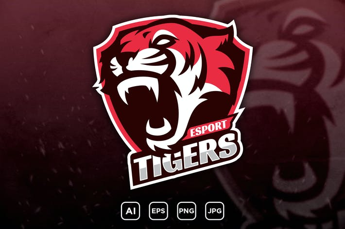 TIGERS - mascot logo for a team