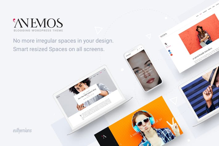 Thumbnail for Anemos - A Multiuse Blogging WordPress theme