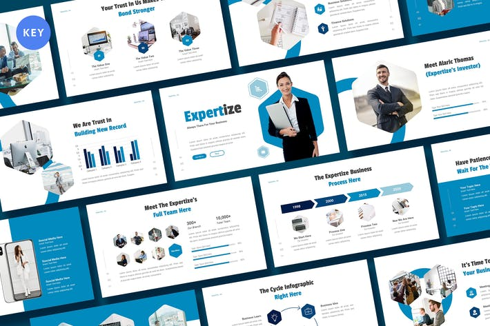 Thumbnail for Expertize - Business Keynote Template