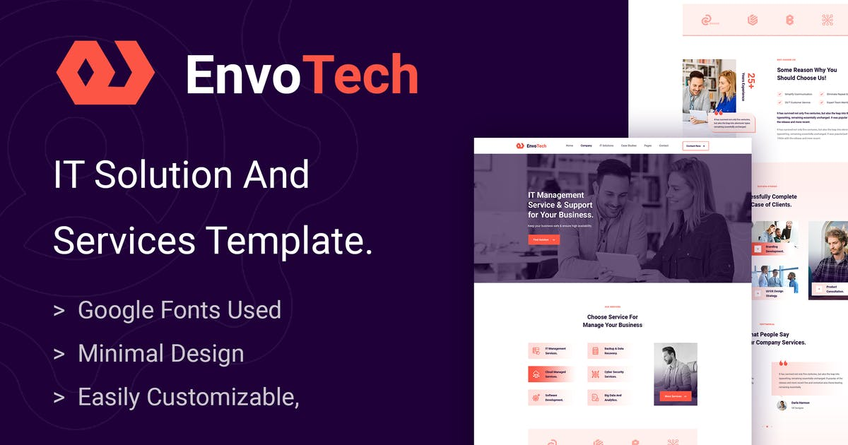 Download EnvoTech - IT Solution and Services Template by envalab