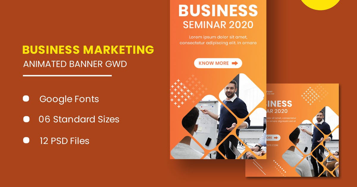 Download Business Seminar Animated Banner Google Web Design by IsLein