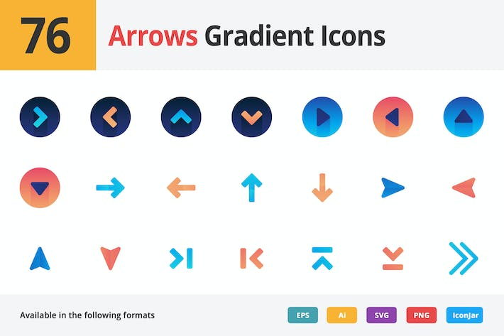 Thumbnail for Arrows Gradient Vector Icons