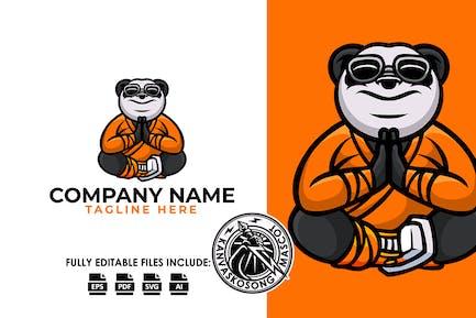 Buddha Panda Yoga Relax Logovorlage