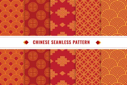 Chinese Seamless Pattern Vector v1